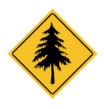 Forestry road sign