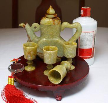 Chinese liquor served