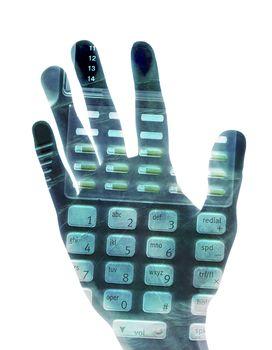 Hand with Keypad Inside