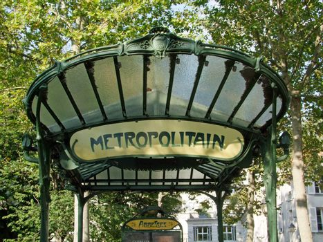 Entrance of a Paris Metro Station