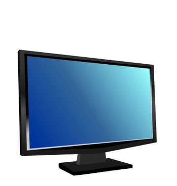 Illustration the switched on monitor TFT