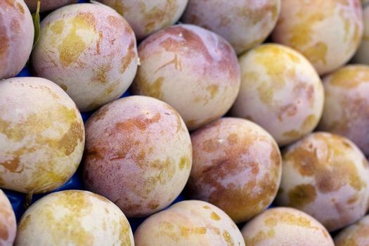 A lot of plums