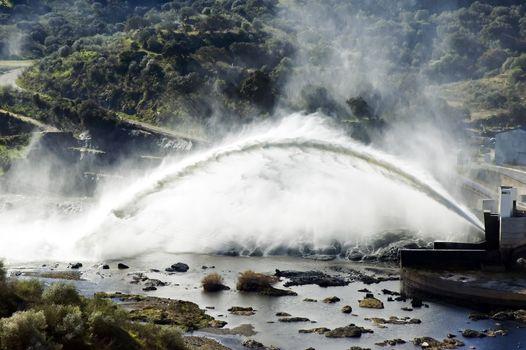 Big water discharge
