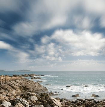 beautiful clouds and ocean