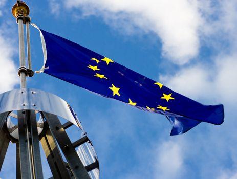 Very large Europian Union Flag.