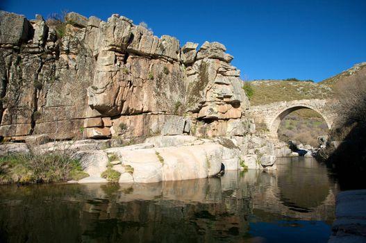 cliff and bridge