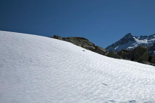 frozen snow slope