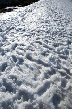 rugged snow slope