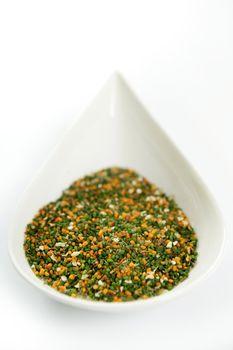 Multicolor vegetables semolina textures