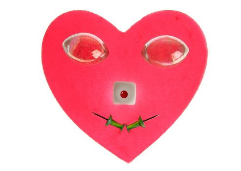 funny heart face, candy end everyday items