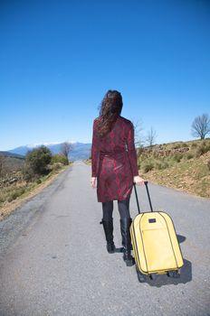 back woman traveller