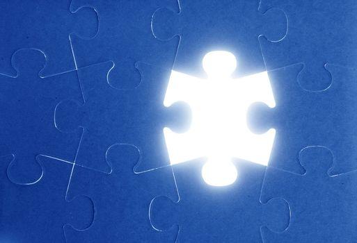 puzzle, communication teamwork metaphor