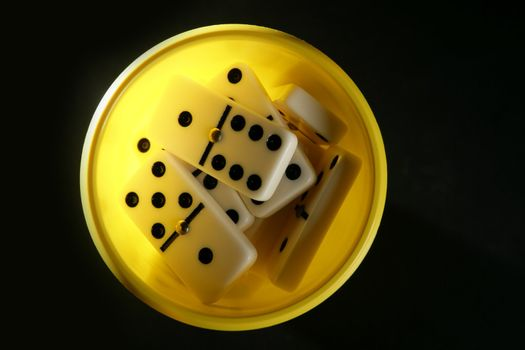 Domino game business metaphor