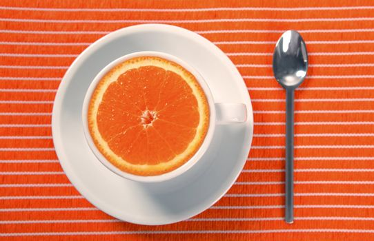 healthy breakfast cup of orange instead caffeine