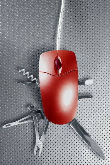 Red mouse metaphor