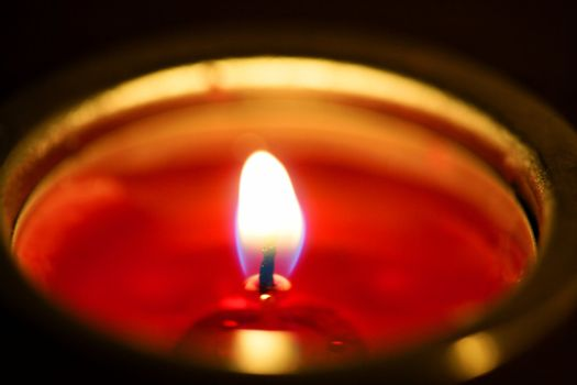 Candle light in a christmas night