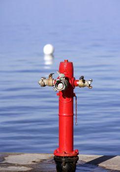 Sea marine hydrant in mediterranean sea