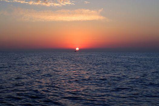 Sunrise at mediterranean sea