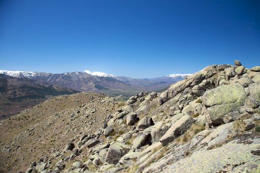 rock mountain at gredos
