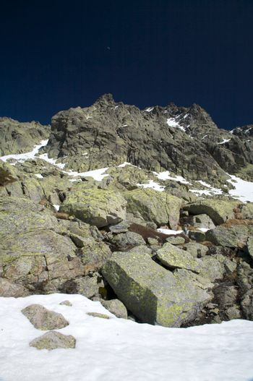 rock snow mountain