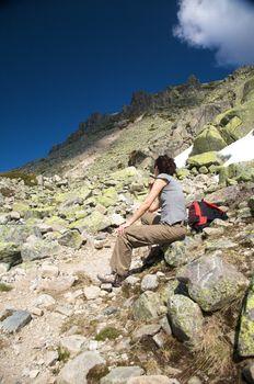 sitting down trhe peak