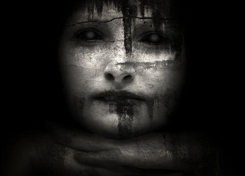 Halloween creepy women