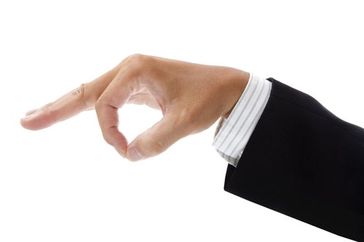 hand of businessman picking up