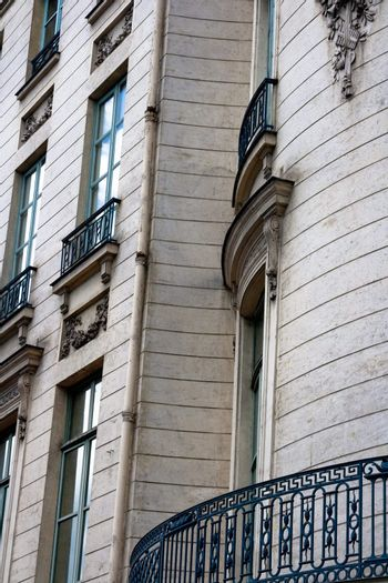 Paris and beautiful residences in an upscale area
