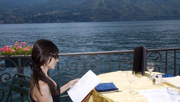 Looking at the menu
