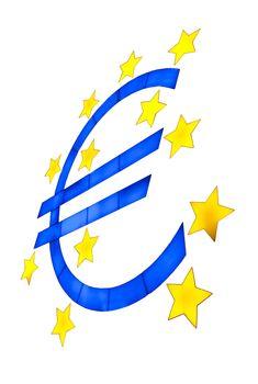 Euro symbol isolated on white