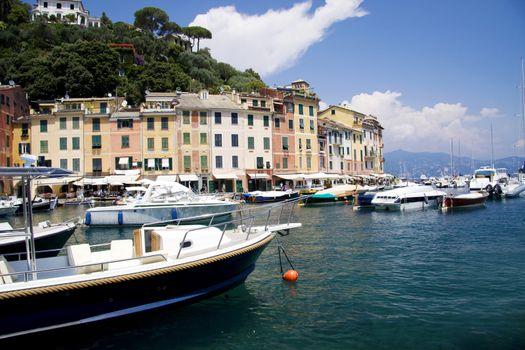 Portofino boats at the bay