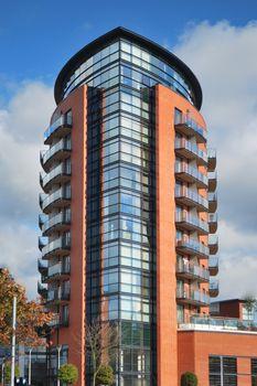 Modern luxury apartment block