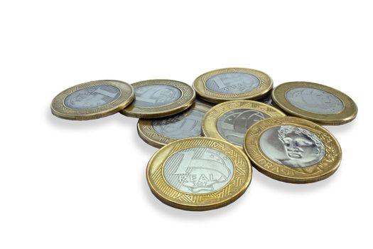Gold brazilian coins