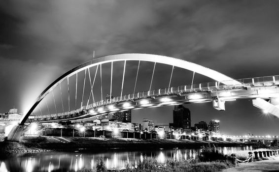 beautiful steel arch bridge
