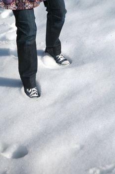 feet on snow in salamanca