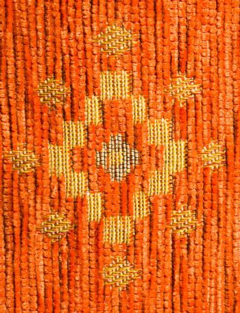orange textile with pattern texture