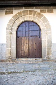 ancient arch wood door