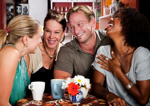 Friends ina coffee house