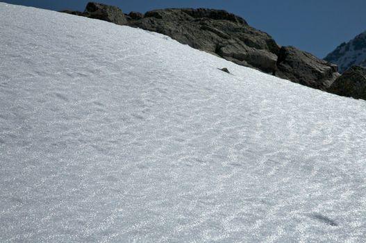 soft snow slope