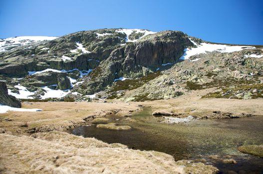 big rock mountain and reservoir