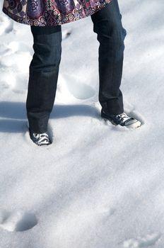 foot on snow in salamanca