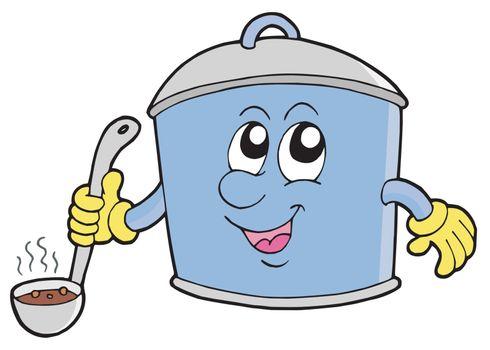 Cartoon cooker pot