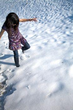 walk down snow in salamanca