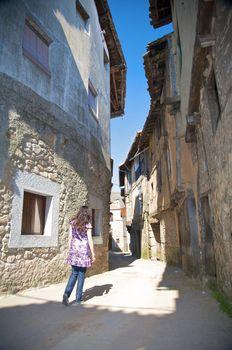 walking ancient street