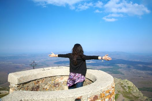 woman at france peak