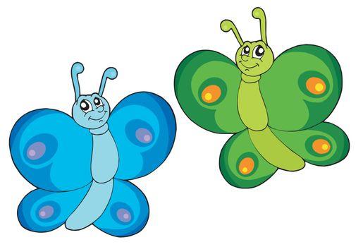 Butterflies vector illustration