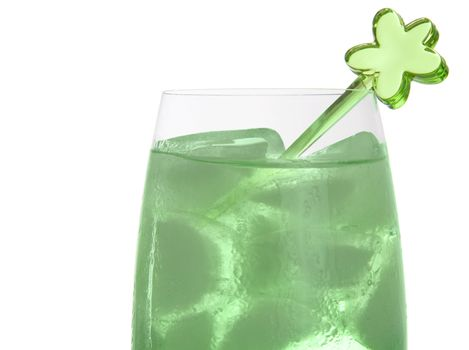 Colorful party drink with decoration