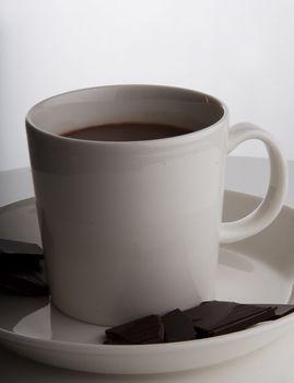 Hot chocolate in designer cup