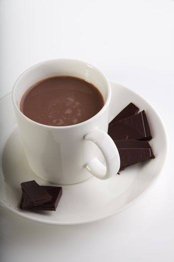 Peices and cup of chocolate