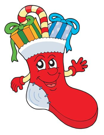 Cute Christmas sock with gifts